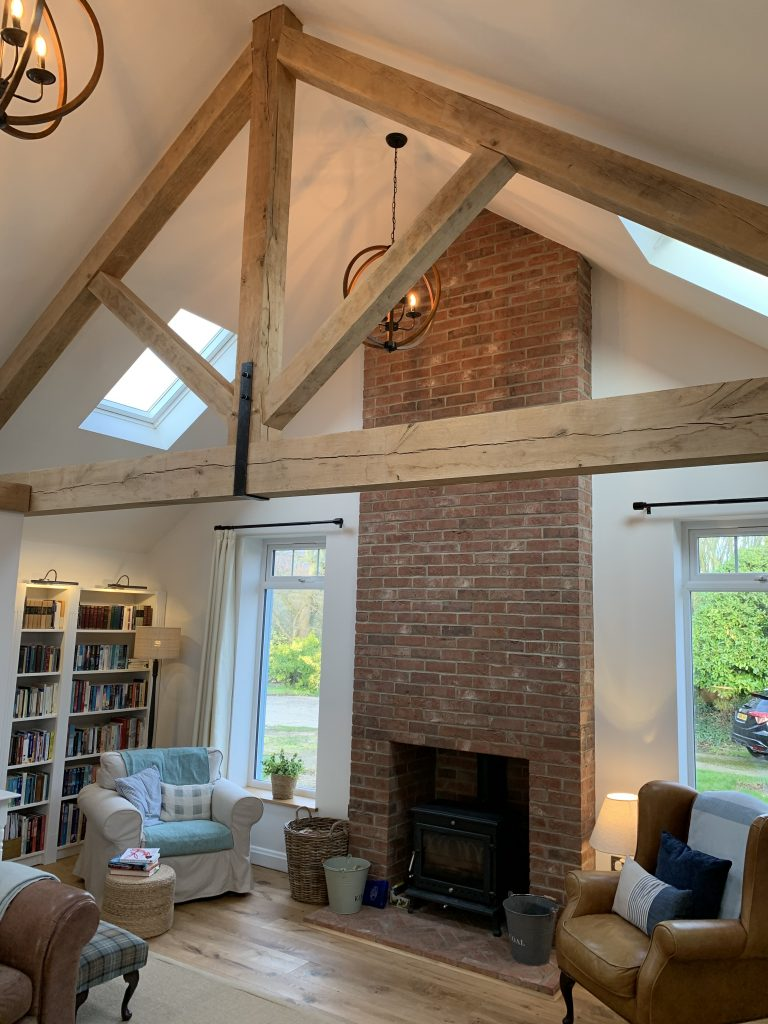 Extension with oak beam truss